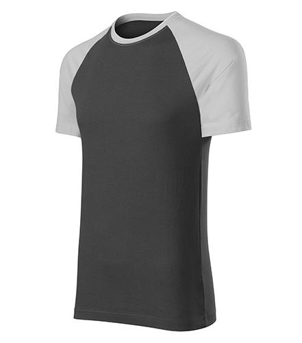 Duo tričko unisex ledově šedá