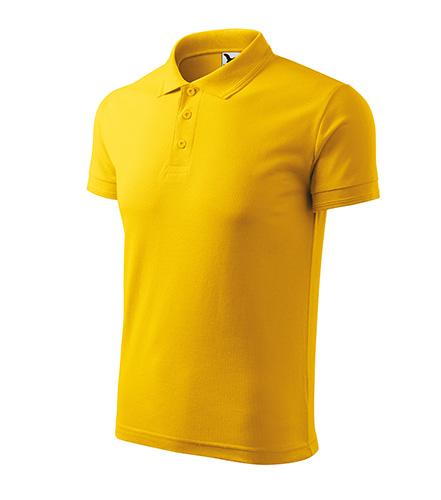 Pique Polo polokošile pánská žlutá