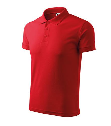 Pique Polo polokošile pánská červená