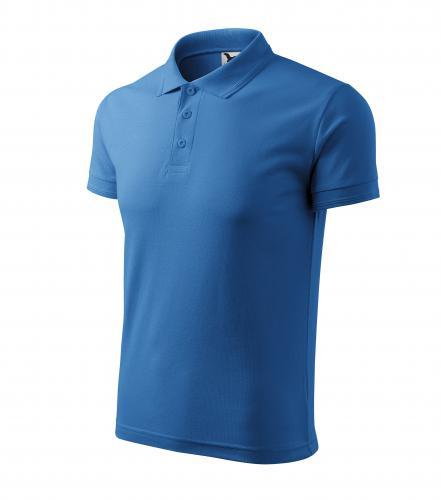 Pique Polo polokošile pánská azurově modrá
