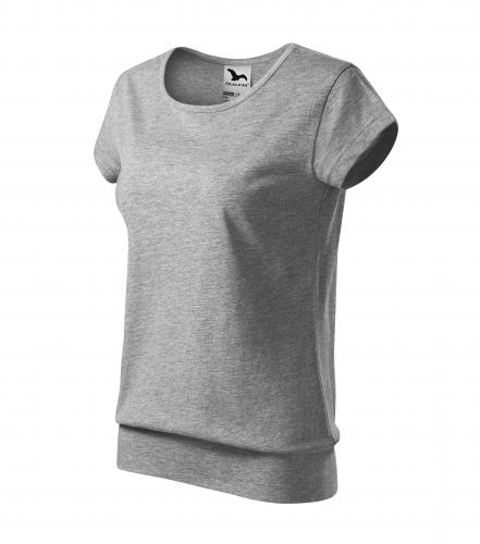 City tričko dámské tmavě šedý melír