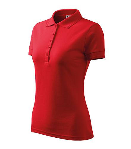 Pique Polo polokošile dámská červená