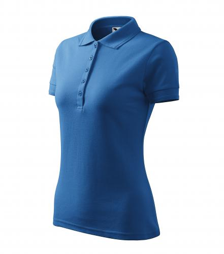 Pique Polo polokošile dámská azurově modrá