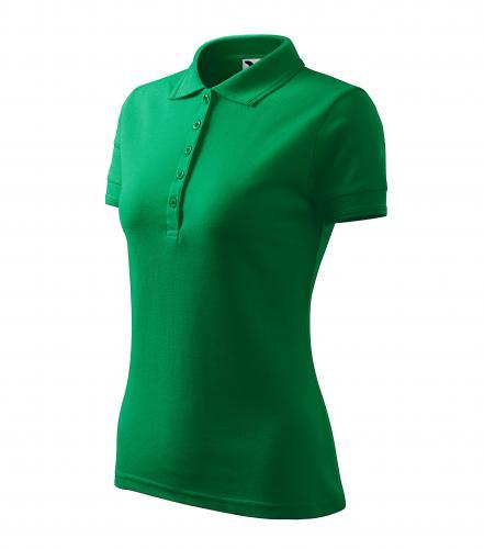 Pique Polo polokošile dámská středně zelená