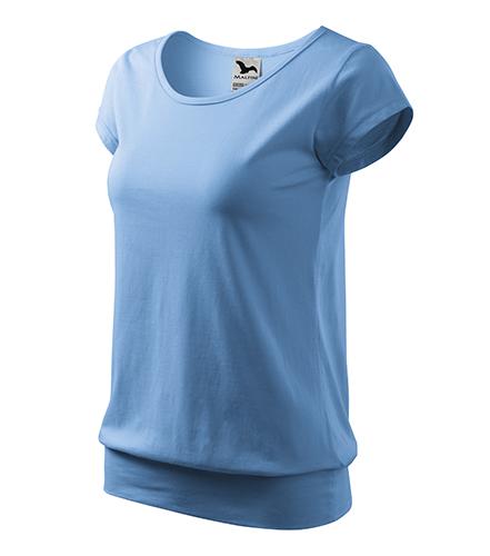 City tričko dámské nebesky modrá
