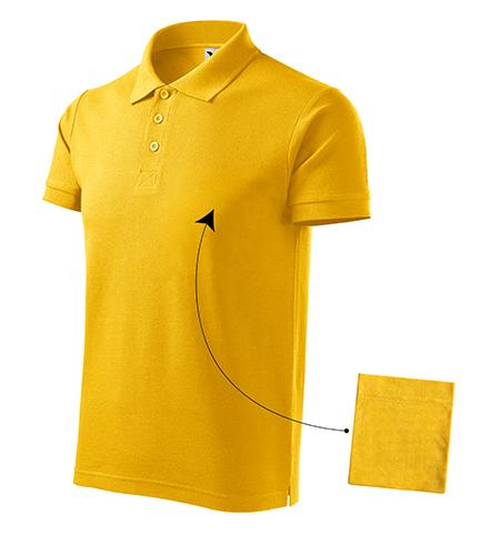 Cotton polokošile pánská žlutá