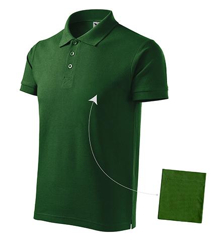 Cotton polokošile pánská lahvově zelená