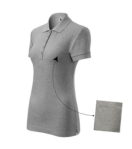 Cotton polokošile dámská tmavě šedý melír