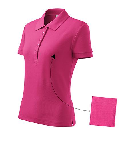Cotton polokošile dámská purpurová