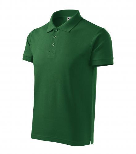 Cotton Heavy polokošile pánská lahvově zelená