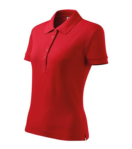 Cotton Heavy polokošile dámská červená