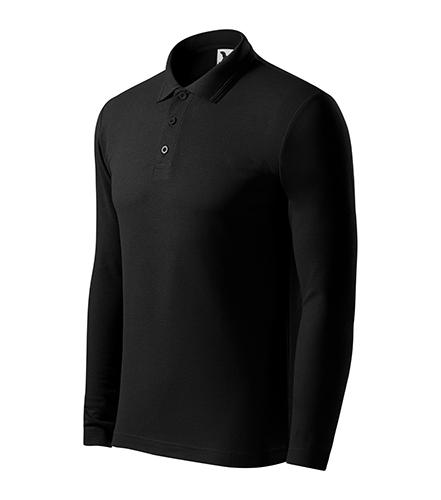 Pique Polo LS polokošile pánská černá