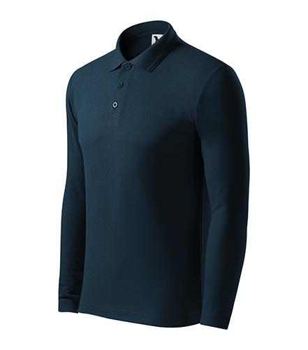 Pique Polo LS polokošile pánská námořní modrá