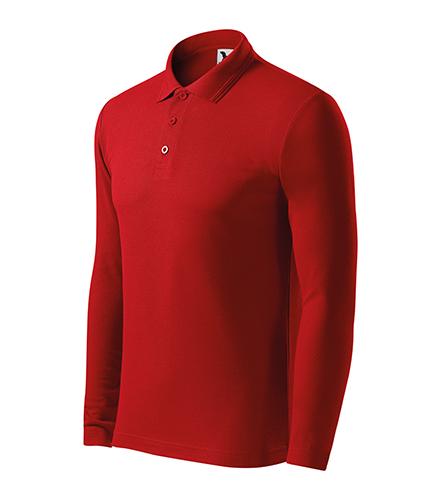 Pique Polo LS polokošile pánská červená