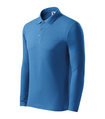 Pique Polo LS polokošile pánská azurově modrá