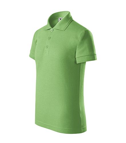 Pique Polo polokošile dětská trávově zelená