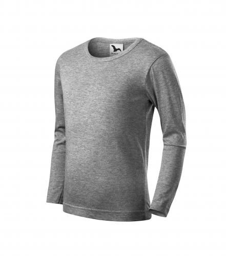 Fit-T LS triko dětské tmavě šedý melír