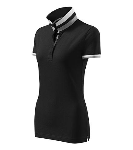 Collar Up polokošile dámská černá