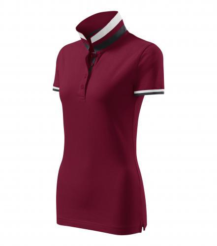 Collar Up polokošile dámská garnet